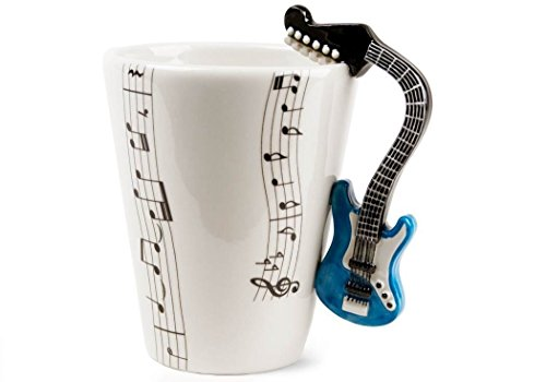 Coffee Mug, Elet-mall Blue Guitar Handmade Coffee Mug (10cm x 8cm)