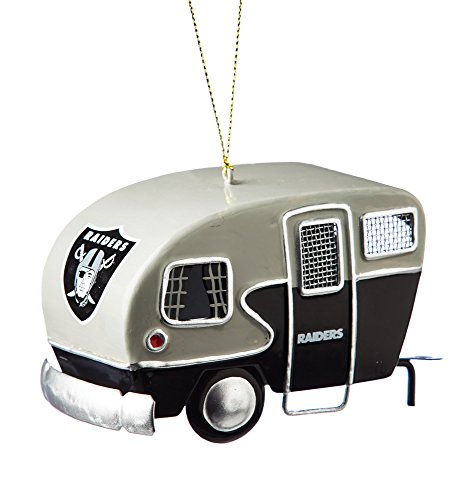 Metal Oakland Raiders Camper Ornament