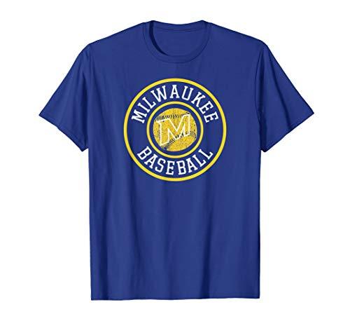 (Milwaukee Baseball | Brewer Baseball Badge Retro Gift T-Shirt)