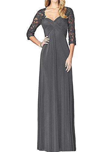 Langarm Abendkleider Grau Damen Festlich Brautmutterkleider Marie Partykleider Fuchsia Braut Dunkel La vWaAY0q