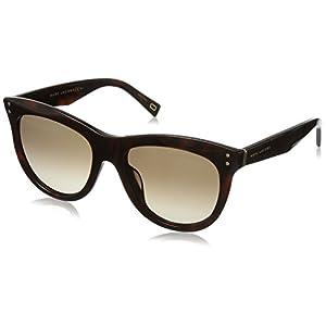 Marc Jacobs Women's Marc118s Square Sunglasses, Havana Medium/Brown Gradient, 54 mm