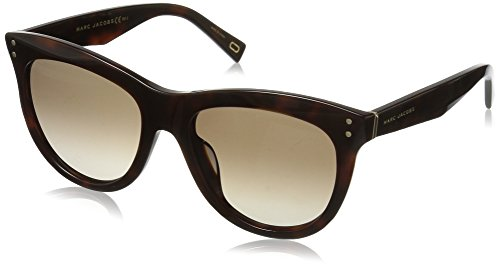 Marc Jacobs Women's Marc118s Square Sunglasses, Havana Medium/Brown Gradient, 54 - Sunglasses Square Marc Jacobs