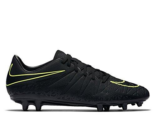 Nike Männer Hypervenom Phelon II IC Fußballschuh Schwarzer und metallischer Hämatit