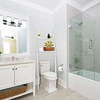 Estantería de baño para lavadora, ahorra espacio, de bambú, con 2 ...