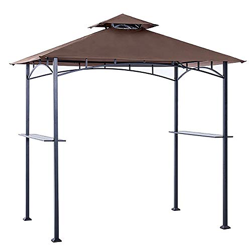 (ABCCANOPY Grill Shelter Replacement Canopy roof ONLY FIT for Gazebo Model L-GZ238PST-11 (Brown))