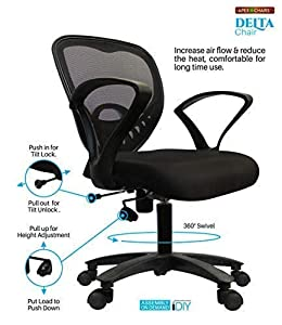 APEX Chairs Delta MB Chair Umbrella Base Office Chair