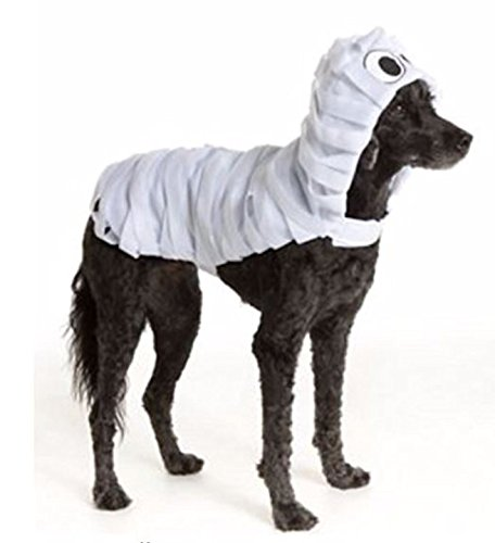 [Pet Halloween White Mummy Monster Wrapped Pet Costume SMALL Dog Puppy Clothing] (Mummys Day Costumes)