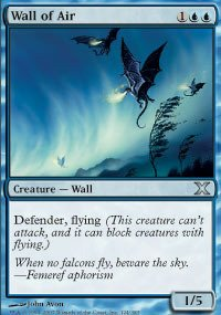 Magic: the Gathering - Wall of Air (124/383) - Tenth Edition