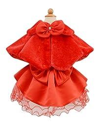 SK Studio Faux Fur Flower Girl Bolero Shrug Accessories Princess Cape
