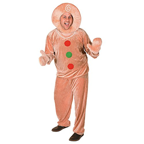 Gingerbread Extra Large Halloween Costume for Adults -