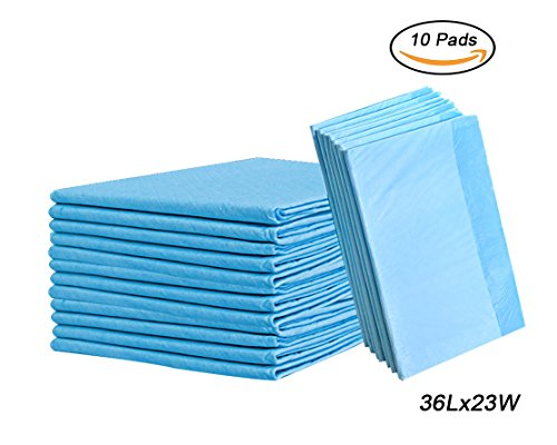Disposable Incontinence Bed Pads,Leak-Proof Breathable Disposable Underpads for Adults, Children and Pets,Hospital 1500ml High Absorbency Disposable Waterproof Bed Pads (36Lx23W,10Pads) by Yourbaby