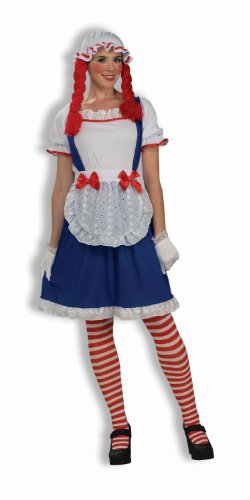 Rag Doll Costume Makeup (Forum Rag Doll Costume, Blue/Red, One Size)
