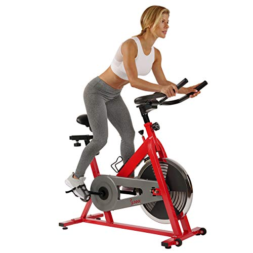 Sunny Health & Fitness SF-B1001 Indoor Cycling Bike, Red