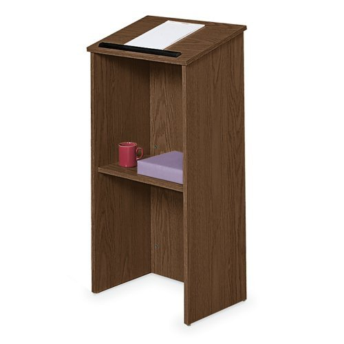 Oklahoma Sound 222-MY Full Floor Lectern, 23'' Width x 46-1/2'' Height x 16'' Depth, Mahogany by Oklahoma Sound