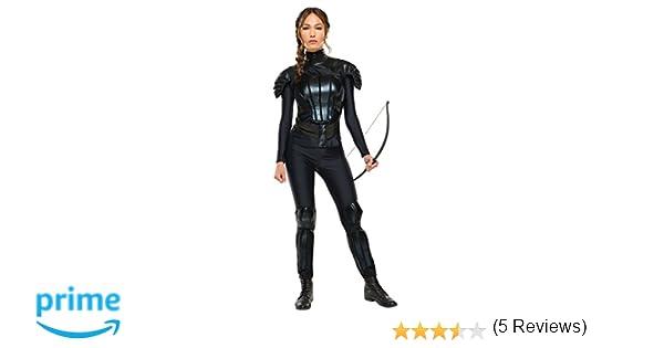 Disfraz de Katniss rebelde de RubieS, de la trilogía Los Juegos del Hambre, para Adultos, Talla XS: Amazon.es: Juguetes y juegos
