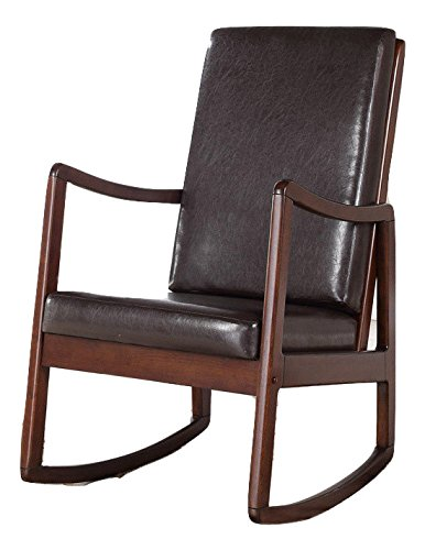 High Quality Bishop Contemporary Cushion Rocking Chair in Brown