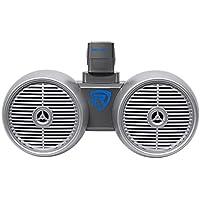 Rockville DWB65S Dual 6.5 Silver 600 Watt Marine Wakeboard Tower Speaker System