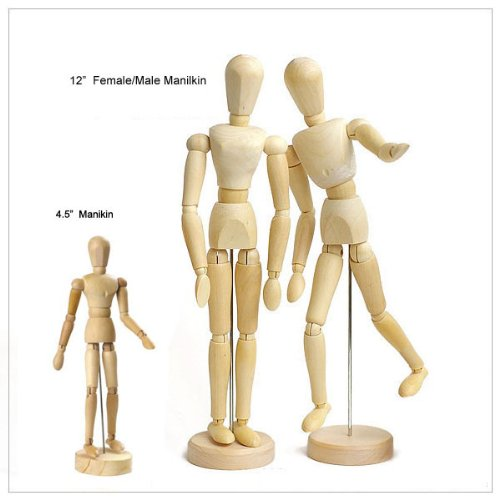 amazon com wooden human mini mannequin unisex 4 5 inches tall