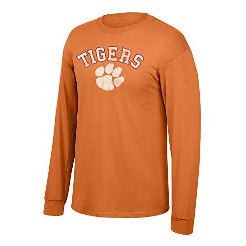 Elite Fan Shop NCAA Men's Clemson Tigers Long Sleeve T Shirt Team Vintage Clemson Tigers Orange XX Large