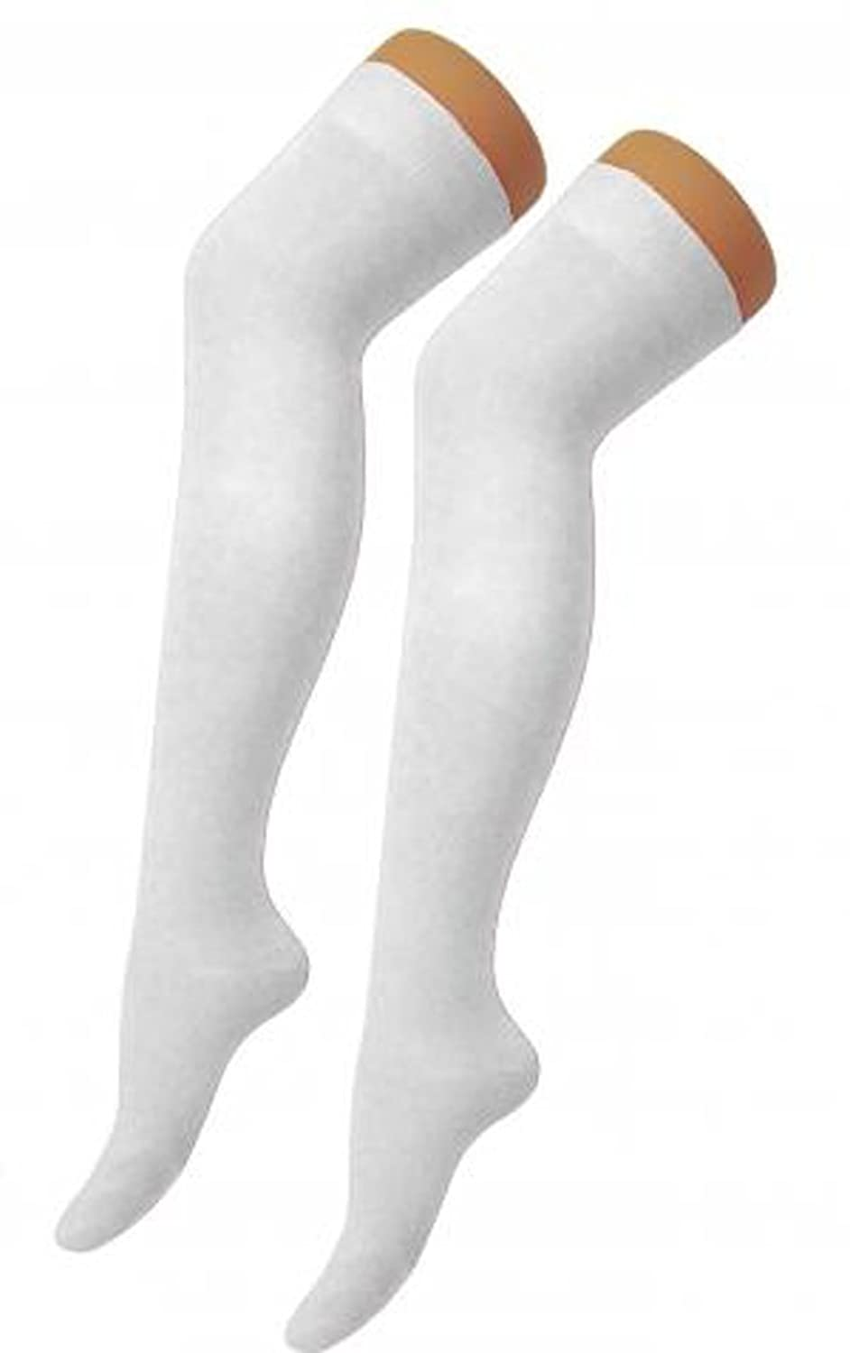 New Ladies Womens Over Knee Long Casual Ladies Thigh High Plain Stretch Fit  Cotton Overknee Socks