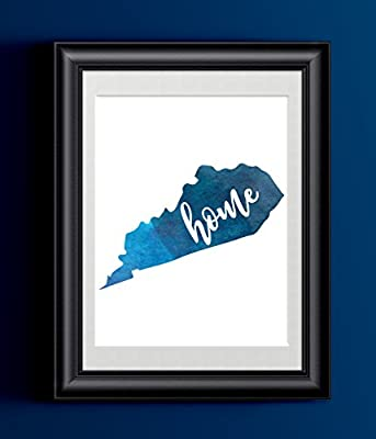 Kentucky Home Watercolor Print | State Home Poster | Wall Decor