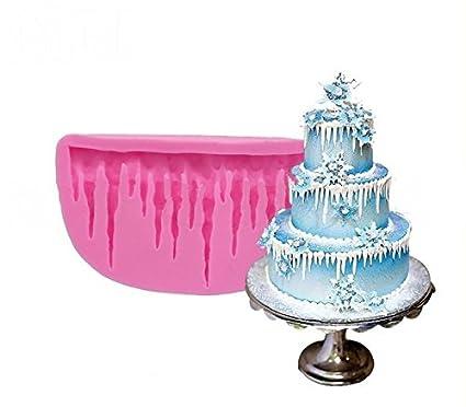 diy 3d cold ice shape silicone mold fondant cake mold decorating bakeware christmas cake decoration by - Christmas Cake Decorations Amazon