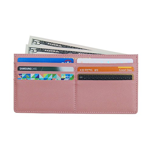 Women's Soft Leather Credit Card Slim Wallet Zipper Pocket Purse for Clutch Bag Indi Pink - Vuitton Louis Ladies Wallets