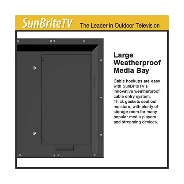 SunBrite 55-Inch Outdoor Television 4K with HDR - Signature 2 Series - for Partial Sun SB-S2-55-4K-BL (55-inch, Black) 6