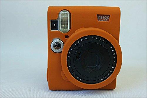 Fuji Mini 90 Case, BolinUS Fullbody Ultra-thin Lightweight Rubber Soft Silicone Case Bag Cover for Fujifilm Fuji Instax Mini 90 -Brown