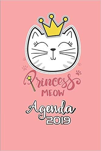 Princess Meow Agenda 2019: Agenda Mensual y Semanal + Organizador I Cubierta con tema de Gatos Enero 2019 a Diciembre 2019 6 x 9in: Amazon.es: Casa Gato ...