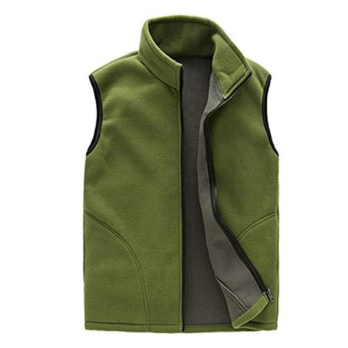 - Men Winter Fleece Vest Male Thick Outwear Casual Thermal Soft Vests Mens Windproof Sleeveless Jacket YA720