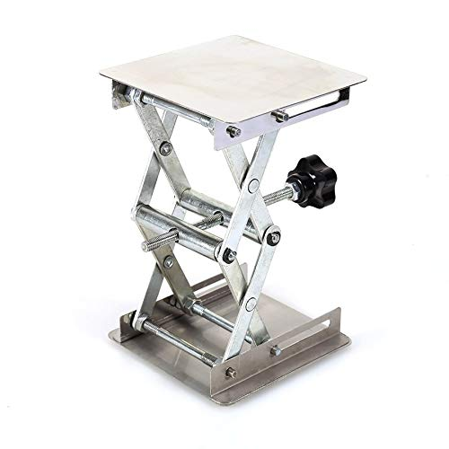 Ochoos 4'' x 4'' 100mm Stainless Steel Lab Stand Lifting Platform Laboratory Tool Laboratory Lifting Platform