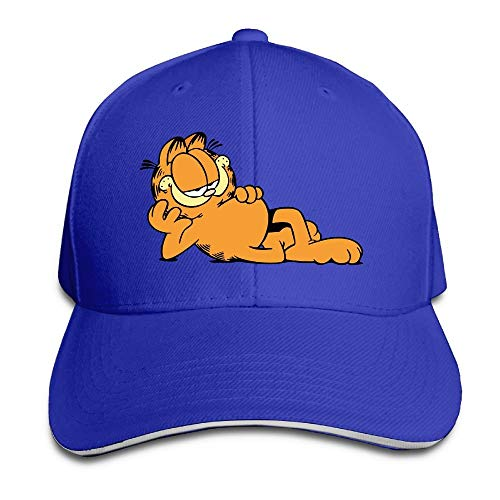 - Fashion Unisex Garfield The Cat Baseball Hats 100% Cotton Adjustable Snapback Curved Hip Hop Caps 7 Colors