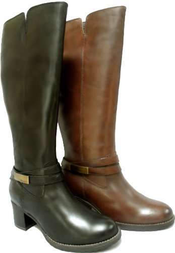 984000cbcd1 Tamaris Wide Calf Boots TAM25541 Brown EU39  Amazon.co.uk  Shoes   Bags