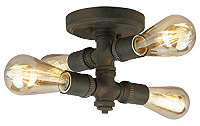 4X60W Ceiling Light W/Zinc Finish