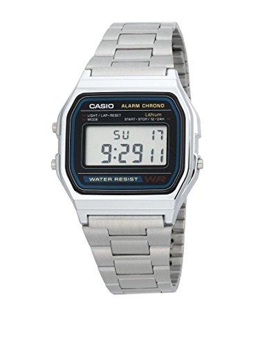 Casio Reloj Digital para Hombre con Correa de Acero Inoxidable – A159WGEA
