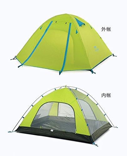 ZHUDJ Outdoor Camping Zelt, Doppelt Aluminium Pole, 3-4 Personen, Wasserdichte Zelt, Camping, Grün