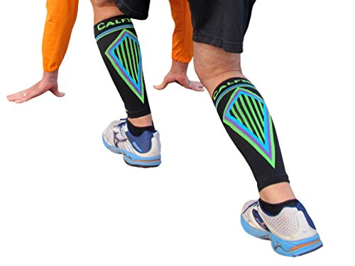 Shin Roller Guards (Tuff Togs BETTER THAN KT TAPE for SHIN SPLINTS: Seriously Tight CALF COMPRESSION SLEEVES, Guard & protect shins/calves. Prevents swelling, aids muscle recovery. Extreme footless)