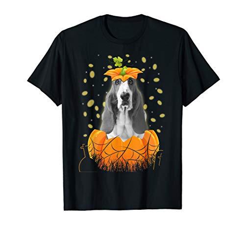 Halloween Basset Hound Dog In Pumpkin Gift 2019 Shirt T-Shirt]()