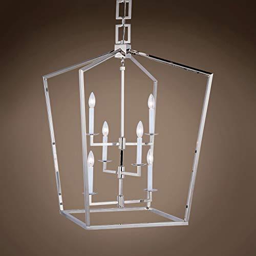 (Transitional 19Th C. English Openwork Lantern 6 Light 24