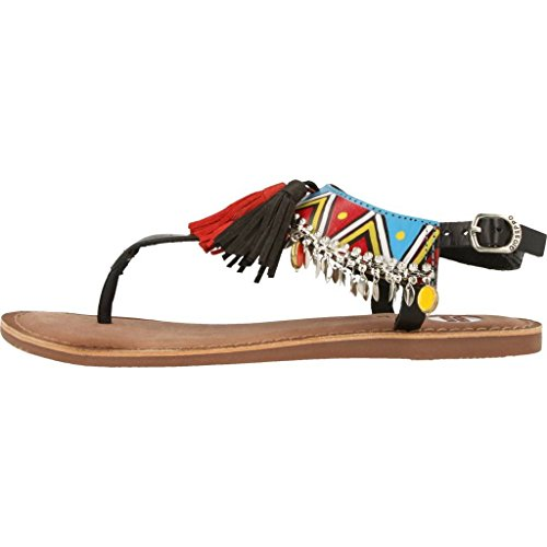 Taplai Sandals Ethnic 37 Beads by Black Gioseppo gwtECqnw