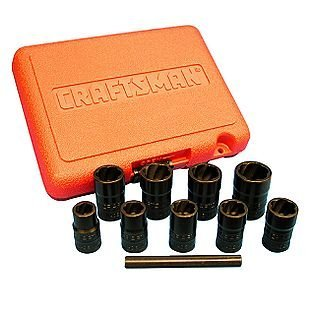 Craftsman Impact Grade Bolt Out 10 Piece Damaged Bolt/Nut Remover Set #52165