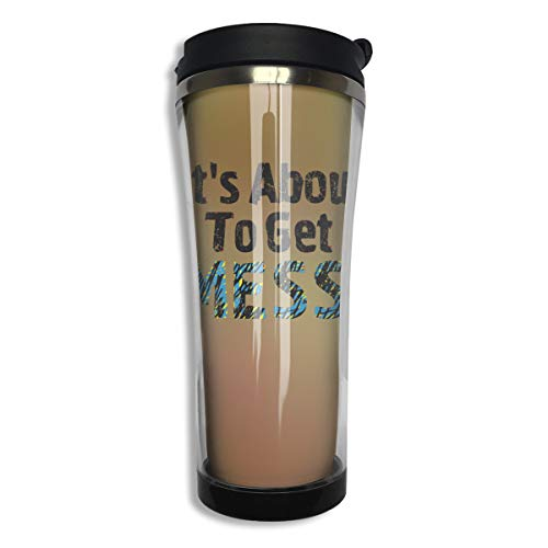 Lodve Hvst It's About to Get Messi Stainless Steel Coffee Mug 14.2 Oz Water Bottle Leakproof Insulated (With Travel Mug Messi Coffee)