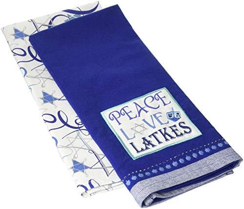 DII Cotton Hanukkah Chanukah Holiday Dish Towels, 18x28