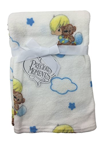 Precious Moments Newborn Boys and Girls Plush Fleece Blanket 30