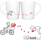 BOLDLOFT All My Love for You Couples Mugs Set- Valentines Day Gifts for Him, Anniversary Gifts for Him, Couples Gifts, Boyfriend Gifts, Husband Gifts, Fiance Gifts, Engagement Gifts for Couples