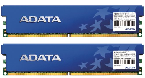 ADATA DDR2 800Mhz 4GB Kit 2 x 2GB CL5 Desktop Memory with Heat Spreader AD2U800B2G5-DRH