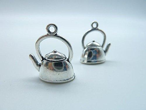 20pcs 10x14x20mm Antique Silver Lovely 3d Teapot Tea Pot Charm Pendant B362