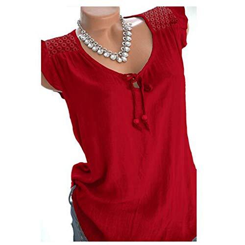 pour débardeur Débardeur femmes d'été décontracté rouge Jutoo T Shirt sans Women manches nqRIvR