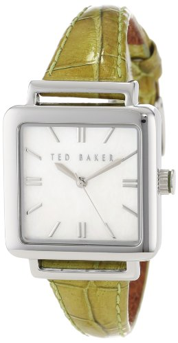 - Ted Baker Women's TE2017 Green/White Leather Watch